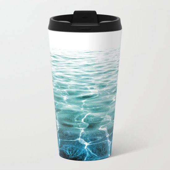 acqua azzurra acqua chiara Metal Travel Mug