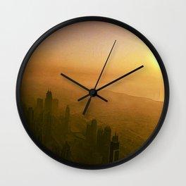 The Falling Sun Wall Clock