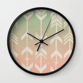 Gradient Tribal Arrows Wall Clock