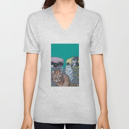 Four Cats Unisex V-Neck