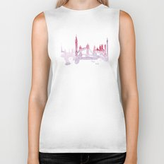 Watercolor landscape illustration_London Biker Tank