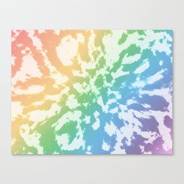 Rainbow Tie-Dye Canvas Print