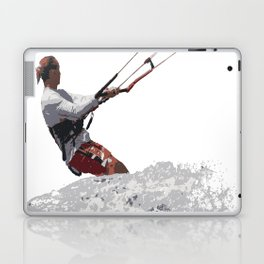 Kiteboarding Lets Go Fly A Kite Vector Laptop & iPad Skin