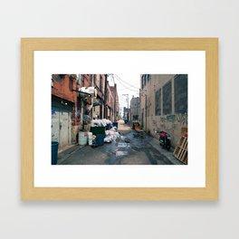 Alley Trash - Pittsburgh Framed Art Print