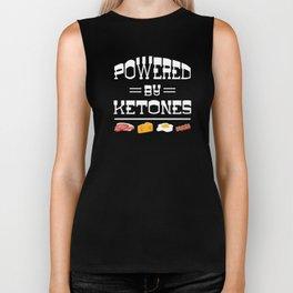Powered by Ketones carbohydrate body energy Biker Tank