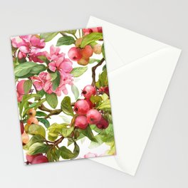 Watercolor apple Stationery Cards