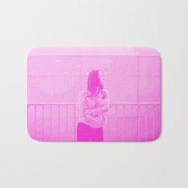 Fierce in Pink Digital Risograph Bath Mat
