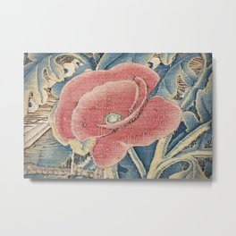 Flower Tapestry Metal Print