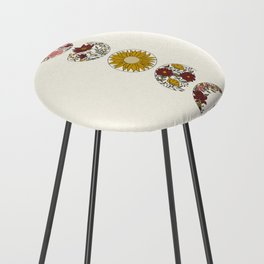 Floral Phases of the Moon Counter Stool