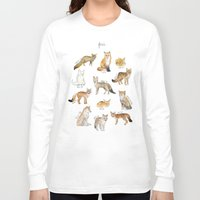 foxes Long Sleeve T-shirts featuring Foxes by Amy Hamilton