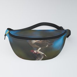 An Osprey Crouched Over Its Catch Fanny Pack