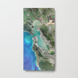 San Francisco California USA - High resolution satellite view of Earth from Space - Color Metal Print