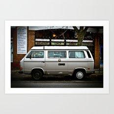 5-Spot silver Art Print