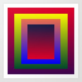 Color Shades by MRT Art Print