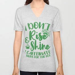 I Don't Rise And Caffeinate Office Gifts For Coffee Lovers Unisex V-Neck