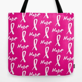 Vector watercolor pink ribbon - breast cancer awareness symbol Tote Bag