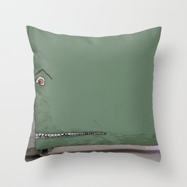 Door monster Throw Pillow