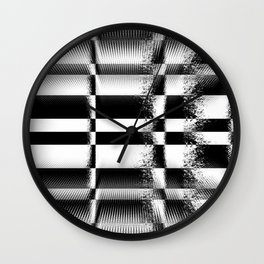 Black and White Abstract Structure Wall Clock