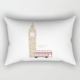 Big Ben & Bus Rectangular Pillow