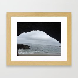 Cave at beach in Aliso Viejo California Framed Art Print