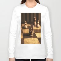 chess Long Sleeve T-shirts featuring Chess by Janelle