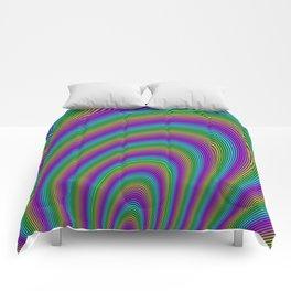 Fractal Rainbow Tunnel Comforters