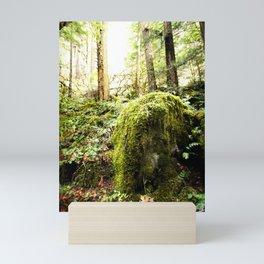 Mossy Boulder, Oregon, trail Mini Art Print
