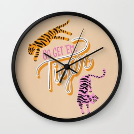 Go Get 'Em Tiger – Melon Wall Clock