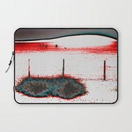 dog walkers on the beach Laptop Sleeve