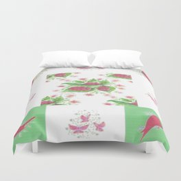 Cardinal Ladybug Pattern Duvet Cover