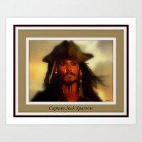 jack sparrow Art Prints featuring Captain Jack Sparrow. by elkart51