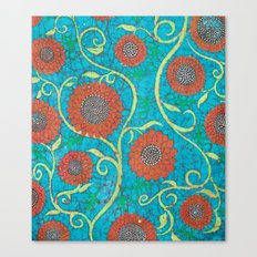 Kate's Flower Batik 2 Canvas Print