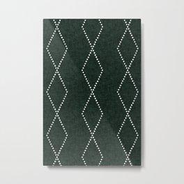 geometric diamonds - evergreen Metal Print