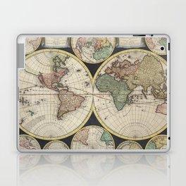 Vintage Map of The World (1696) Laptop & iPad Skin