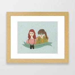 Suzy and Sam Together Framed Art Print