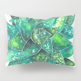 Green succulent Pillow Sham