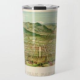 Pikes Peak Panorama, Colorado Springs, Colorado (1890) Travel Mug