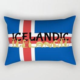 Icelandic Horses Cartoon Rectangular Pillow