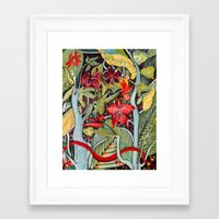 paradise Framed Art Prints featuring Paradise  by Felicia Atanasiu