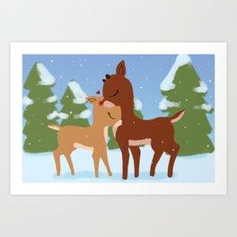 Rudolph & Clarice Art Print