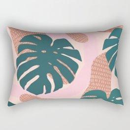 Calm Monstera Rectangular Pillow