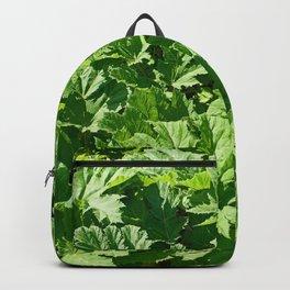 Green leaves of burdock Backpack