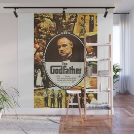 The Godfather, vintage movie poster Wall Mural