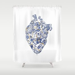 Broken heart - kintsugi Shower Curtain