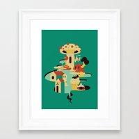 bar Framed Art Prints featuring bar by Alevan