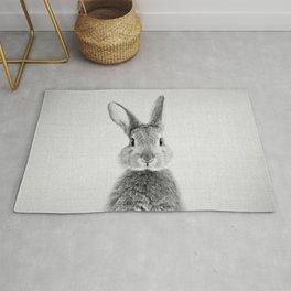 Rabbit - Black & White Rug