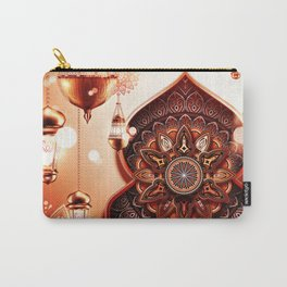 With mandala and lighting Carry-All Pouch
