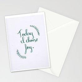 """""""Today I Choose Joy-2"""" Stationery Cards"""
