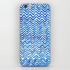 Blue triangle pattern iPhone & iPod Skin