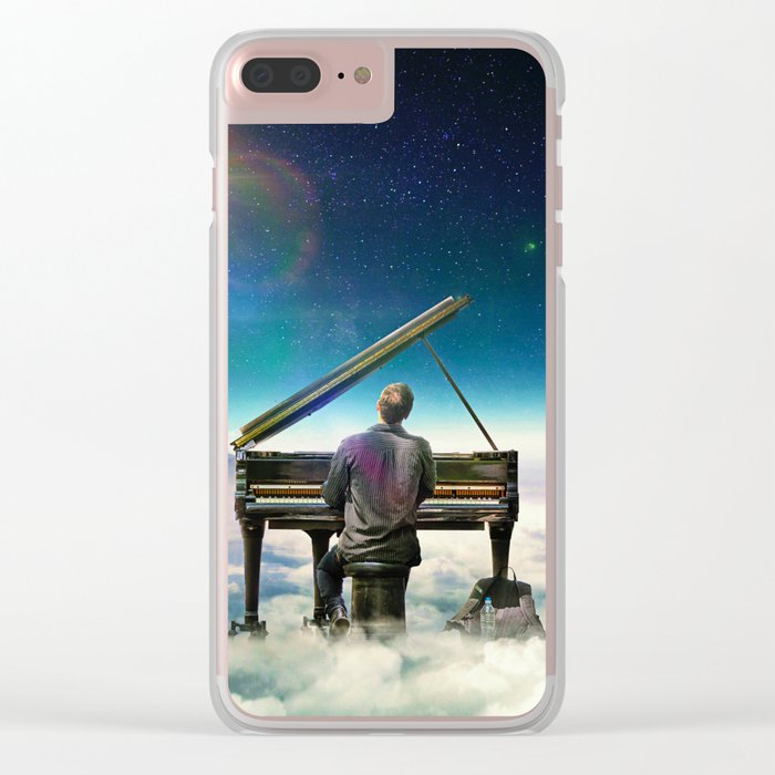 Playing To The Clouds Clear iPhone Case